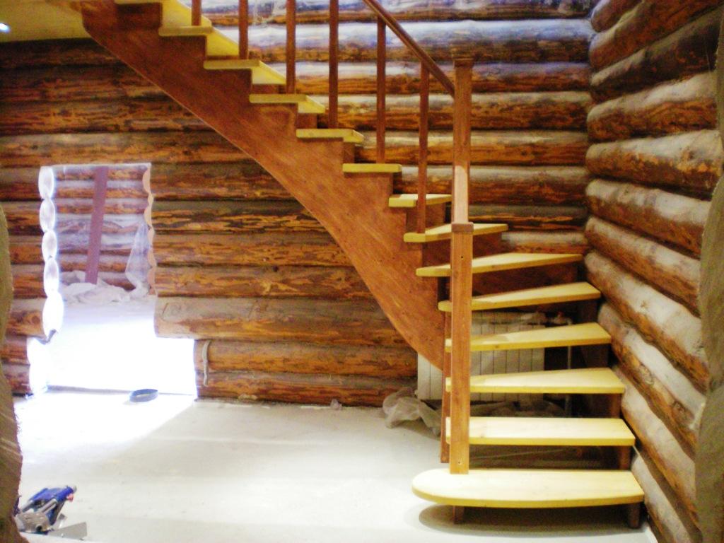 Деревянные лестницы на второй этаж своими руками с поворотом на 90 цены 49